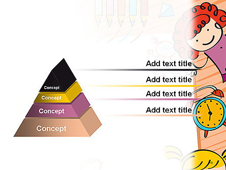 Kids and Toys Drawing Style Background PowerPoint Template Slide 10