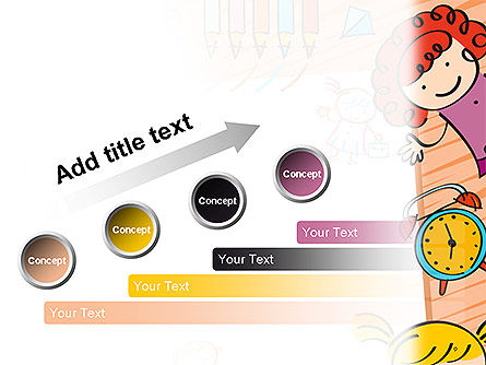 Kids and Toys Drawing Style Background PowerPoint Template Slide 9