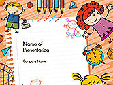 Education & Training: Kids and Toys Drawing Style Background PowerPoint Template #14608