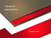 Business: Modèle PowerPoint de résumé découpé des formes de papier #14609