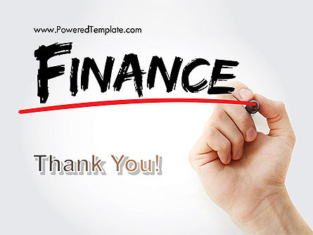 A Hand Writing 'Finance' with Marker PowerPoint Template Slide 20