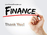 A Hand Writing 'Finance' with Marker PowerPoint Template#20