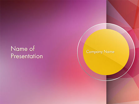 Yellow Circle on Pink Background PowerPoint Template