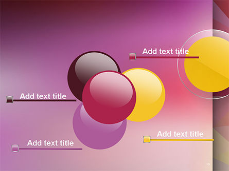 Yellow Circle on Pink Background PowerPoint Template Slide 10
