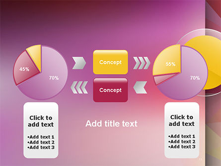 Yellow Circle on Pink Background PowerPoint Template Slide 11