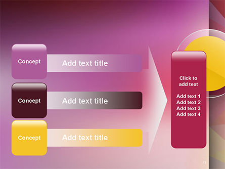 Yellow Circle on Pink Background PowerPoint Template Slide 12