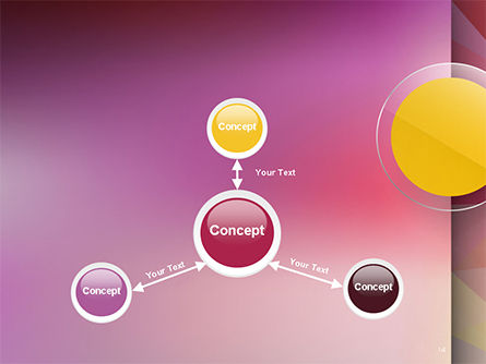 Yellow Circle on Pink Background PowerPoint Template Slide 14