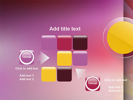 Yellow Circle on Pink Background PowerPoint Template Slide 16
