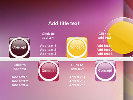 Yellow Circle on Pink Background PowerPoint Template Slide 19