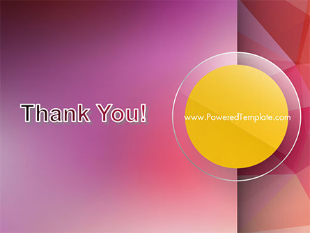 Yellow Circle on Pink Background PowerPoint Template Slide 20
