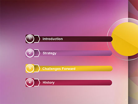 Yellow Circle on Pink Background PowerPoint Template Slide 3
