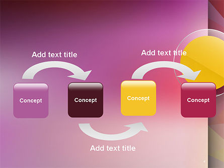 Yellow Circle on Pink Background PowerPoint Template Slide 4