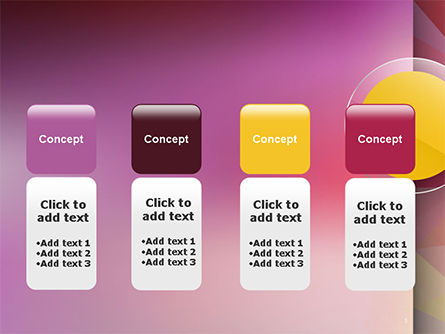 Yellow Circle on Pink Background PowerPoint Template Slide 5