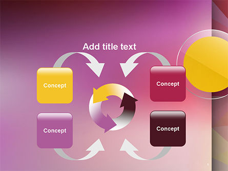 Yellow Circle on Pink Background PowerPoint Template Slide 6