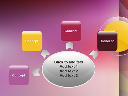Yellow Circle on Pink Background PowerPoint Template Slide 7
