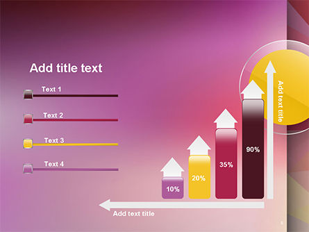 Yellow Circle on Pink Background PowerPoint Template Slide 8