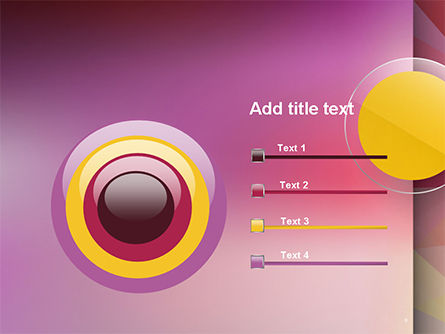 Yellow Circle on Pink Background PowerPoint Template Slide 9