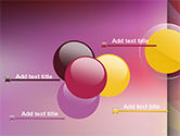 Yellow Circle on Pink Background PowerPoint Template#10