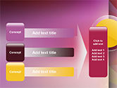 Yellow Circle on Pink Background PowerPoint Template#12