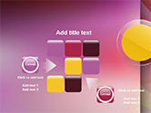 Yellow Circle on Pink Background PowerPoint Template#16
