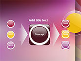 Yellow Circle on Pink Background PowerPoint Template#17
