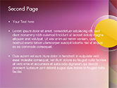 Yellow Circle on Pink Background PowerPoint Template#2