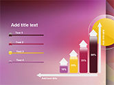 Yellow Circle on Pink Background PowerPoint Template#8
