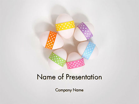 Six Easter Eggs in a Circle PowerPoint Template
