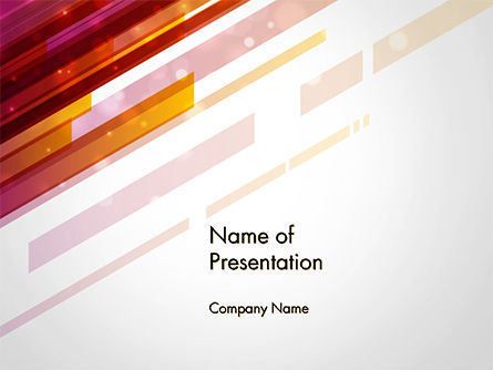 Straight Diagonal Lines PowerPoint Template