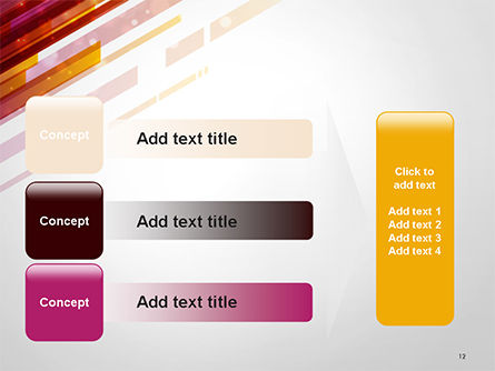 Straight Diagonal Lines PowerPoint Template Slide 12