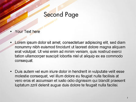 Straight Diagonal Lines PowerPoint Template Slide 2