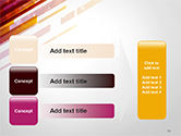 Straight Diagonal Lines PowerPoint Template#12
