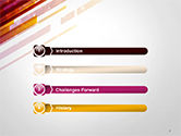 Straight Diagonal Lines PowerPoint Template#3