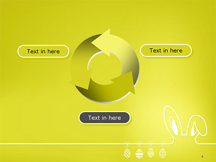 Happy Easter Background with Ears Rabbit and Eggs PowerPoint Template Slide 9