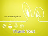 Happy Easter Background with Ears Rabbit and Eggs PowerPoint Template#20