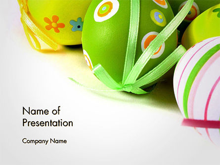 Painted Easter Eggs PowerPoint Template, 14616, Holiday/Special Occasion — PoweredTemplate.com