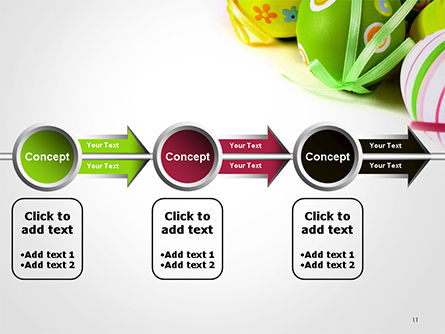 Painted Easter Eggs PowerPoint Template Slide 11