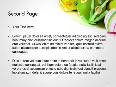 Painted Easter Eggs PowerPoint Template, Slide 2, 14616, Holiday/Special Occasion — PoweredTemplate.com