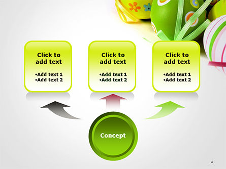 Painted Easter Eggs PowerPoint Template, Slide 4, 14616, Holiday/Special Occasion — PoweredTemplate.com