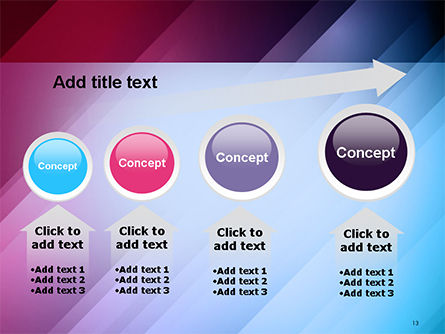 Abstract Bright Background with Diagonal Lines PowerPoint Template Slide 13