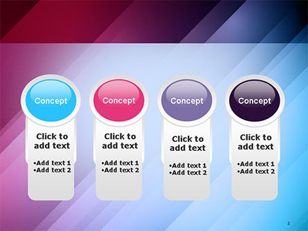 Abstract Bright Background with Diagonal Lines PowerPoint Template Slide 5
