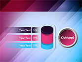 Abstract Bright Background with Diagonal Lines PowerPoint Template#11