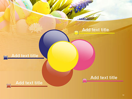 Basket with Easter Eggs PowerPoint Template Slide 10