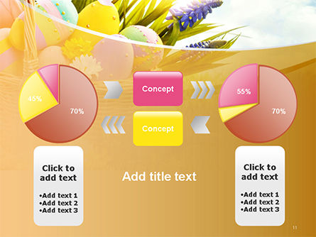Basket with Easter Eggs PowerPoint Template Slide 11