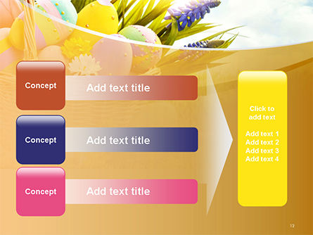 Basket with Easter Eggs PowerPoint Template Slide 12