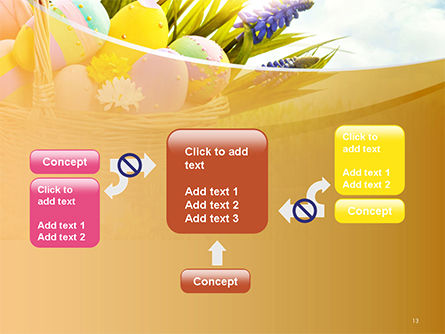 Basket with Easter Eggs PowerPoint Template Slide 13