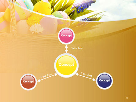 Basket with Easter Eggs PowerPoint Template Slide 14