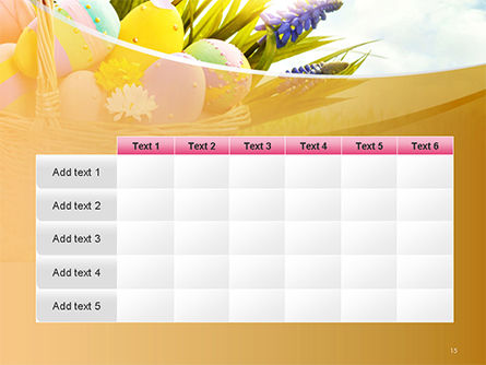 Basket with Easter Eggs PowerPoint Template Slide 15