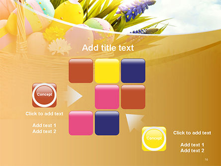 Basket with Easter Eggs PowerPoint Template Slide 16