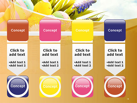 Basket with Easter Eggs PowerPoint Template Slide 18